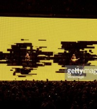 Musician ____ of U2 performs onstage during the U2 iNNOCENCE + eXPERIENCE tour opener in Vancouver at Rogers Arena on May 14, 2015 in Vancouver, Canada.