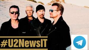 Segui gli aggiornamenti del canale #U2NewsIT su Telegram