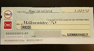 Il resoconto finale della donazione di U2360GRADI.IT a (RED)